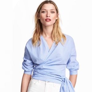 H&M striped wrap top - sz 10